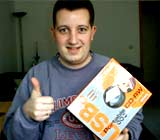 Andreas T. gewann einen CD-DVD Brenner